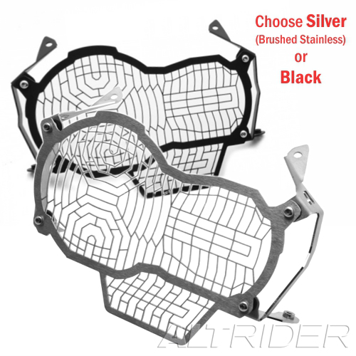 AltRider Headlight Guard Extended BMW R 1200GS Water Cooled Silver R113-0-1124