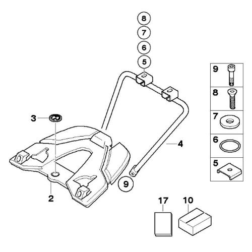 bmw vario top case mounting plate kit  r1200gs