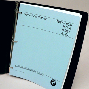 BMW Repair Manual - R60/6, R75/6, R90/6, R90S, Repro