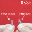 6 Volt Instrument Light Bulb, 1.2W