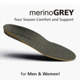 Superfeet Insoles, Merino Grey for Men & Women