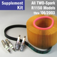 Full Service Supplement Kit for R1150 RS/RT/GS/R, 2-Spark thru 6/03