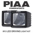 PIAA RF Series LED Cube Driving Light Kit, 3 inches