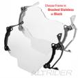 AltRider Extended Headlight Guard, Clear Lens, R1200GS(W) 2013-16