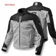 Rev'it! Airwave 2 Men's Jkt, Silv-Blk 4XL
