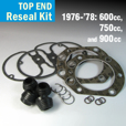 Top End Reseal Kit, 600, 750, & 900cc Models - 1976-1978