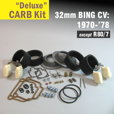 Deluxe Carb Rebuild Kit for 32mm CV type, 1970-'78