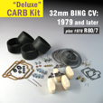 Deluxe Carb Rebuild Kit for 32mm CV type, 1979 & Later