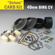 Deluxe Carb Rebuild Kit for 40mm CV type, 1977 & Later
