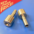 Stainless Bar-End Weight Set for 15.5mm I.D. bars