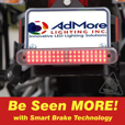 AdMore Lighting High Output Premium LED Light Bar | Running, Brake, Progressive Turn Signals & Smart Brake Technology