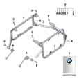 BMW Luggage Mounting Set, Aluminum Cases for F800GS