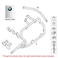 BMW Aluminum Side Case Mounting Bracket Kit, R1200GS Adv. (thru 2013)