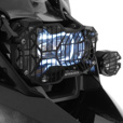 Touratech Headlight Guard for BMW R1200GS/ADV & R1250GS Models | Black Powdercoated