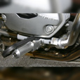Ilium Works Front Engine Guard Mount Highway Pegs for R1200GS & Adventure
