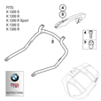 BMW Sports Panniers Mounting Bracket Set, K1200/1300S & K1200/1300R