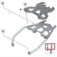 BMW Vario Top Case Mounting Rack Hardware, F750GS, F850GS & C400X